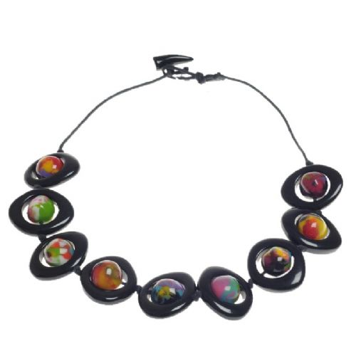 Jackie Brazil Short Saturn Necklace in Kandinsky